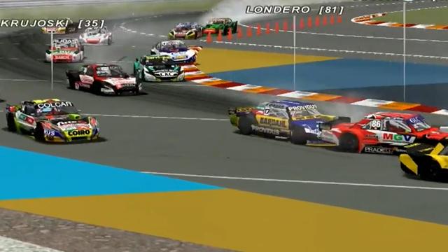 El piloto entrerriano se saco las ganas de acelerar en el TC Virtual.