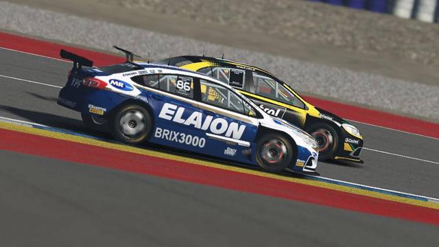 Canapino (Chevrolet) ganó con firmeza la carrera virtual.