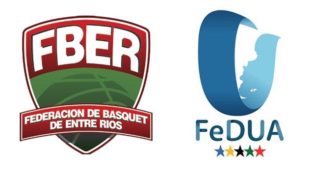 Federación de Básquet de Entre Ríos y la Federación del Deporte Universitario.