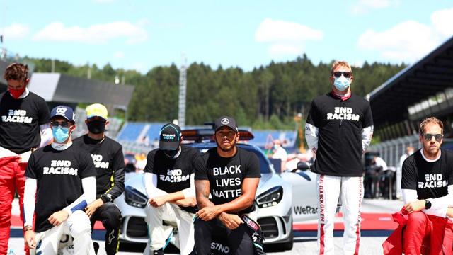 Polémica en la Fórmula 1: Seis pilotos no se arrodillaron en la protesta contra el racismo