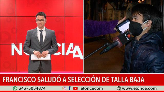 Francisco saludó a la Selección de fútbol talla baja: