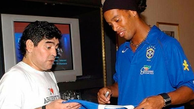 Maradona y Ronaldinho.