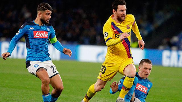 Barcelona y Messi reciben al Napoli y van por la clasificación en la Champions