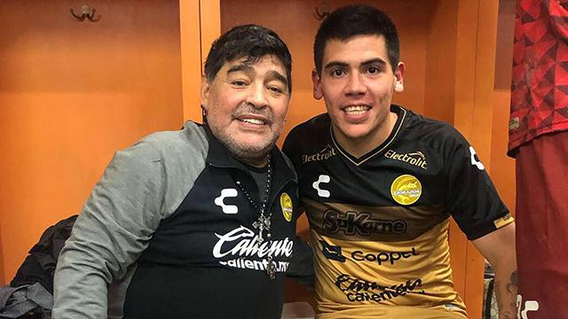 El cordobés tuvo como DT a Diego Maradona en Dorados.