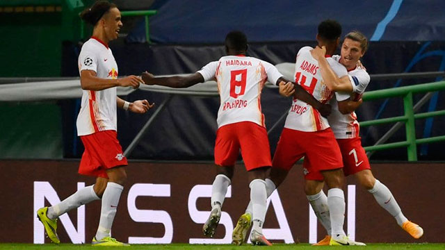 Leipzig eliminó al Atlético de Diego Simeone de la Champions League