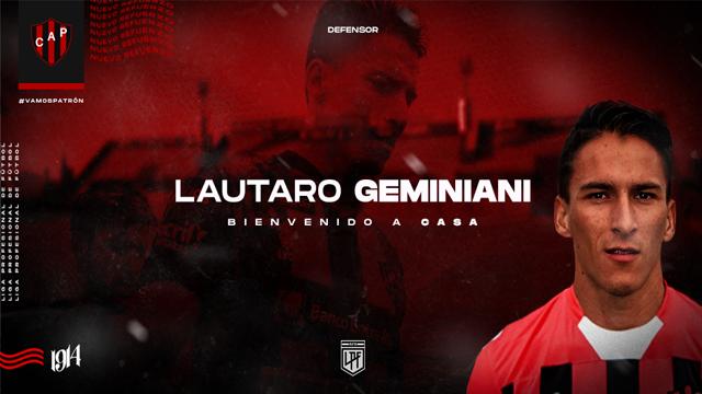 Patronato confirmó el regreso de Lautaro Geminiani