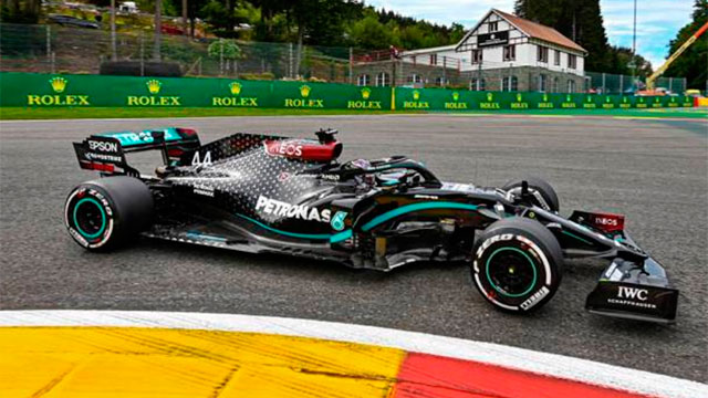 Hamilton se llevó la victoria de punta a punta en Bélgica.