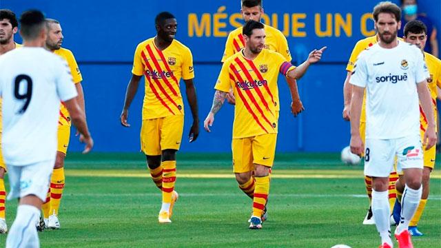 Messi, listo para recibir a Sevilla.