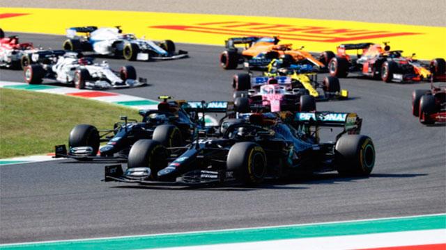 Hamilton se quedó con el GP de Toscana.
