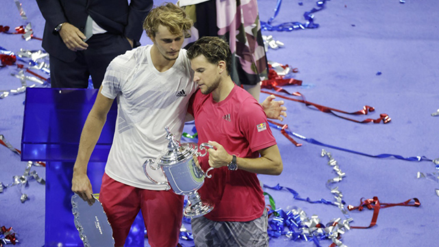 Dominic Thiem y Alexander Zverev.