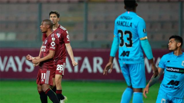 River goleó a Binacional de Perú 6-0.