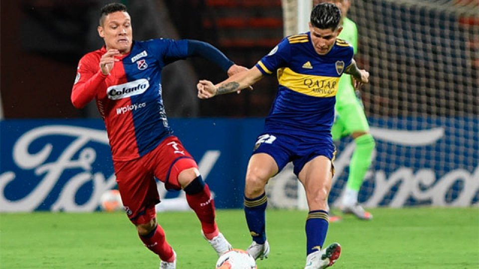 Con un gol de Salvio, Boca se impuso ante el DIM.