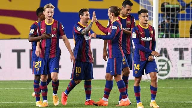 En la vuelta de la Liga de España, Barcelona goleó y Messi marcó un tanto