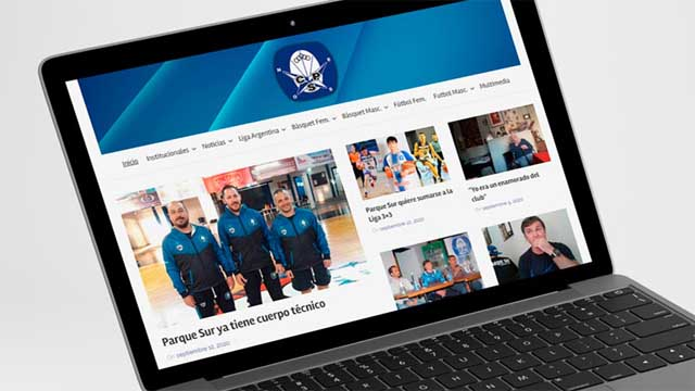 El nuevo diseñó del sitio web oficial del Sureño.