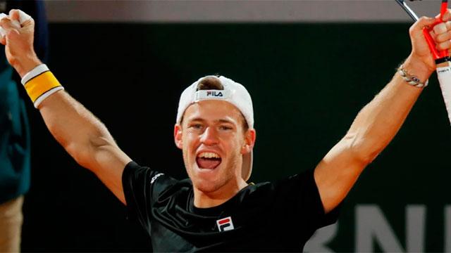 Diego Schwartzman volvió a ganar y avanzó a cuartos en Roland Garros.