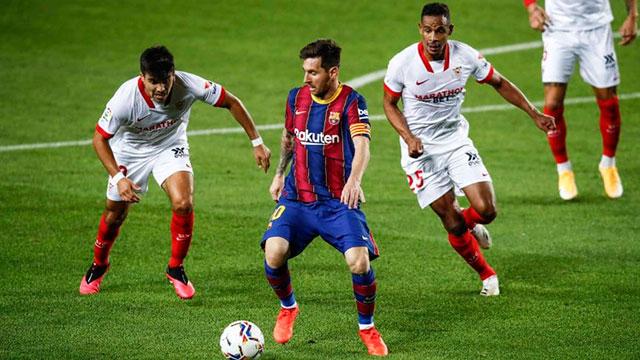 Barcelona, con Messi antes de la Selección, empató con el Sevilla de Ocampos.
