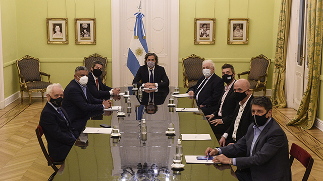 La reunión realizada en la Rosada fue muy amena.