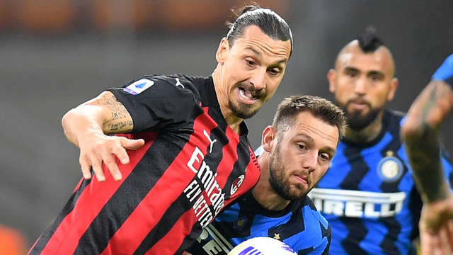 Ibra fue la gran figura del clásico, donde los tres puntos fueron para el Milan.