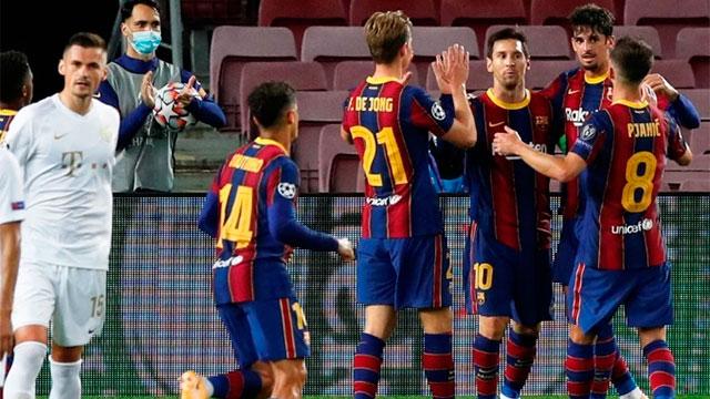 Barcelona arrancó la Champions con goleada y un tanto de Lionel Messi.
