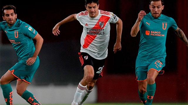 River le gana 1-0 a Liga de Quito: el objetivo es terminar como líder de su grupo