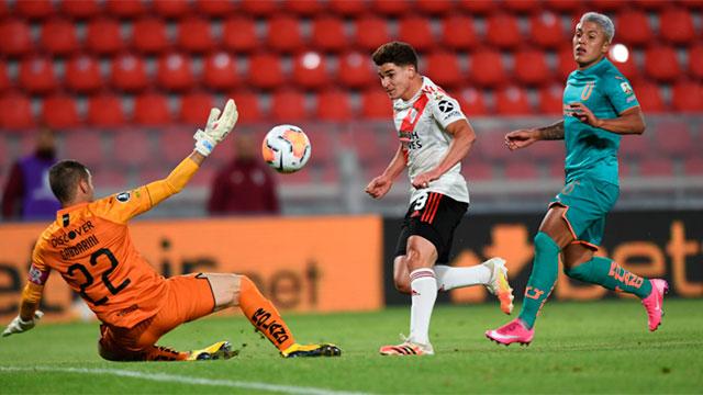 River goleó a Liga de Quito y se aseguró el primer lugar de su grupo.