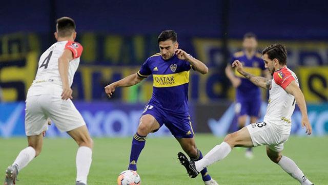 Boca goleó a Caracas en el cierre de la fase de grupos.