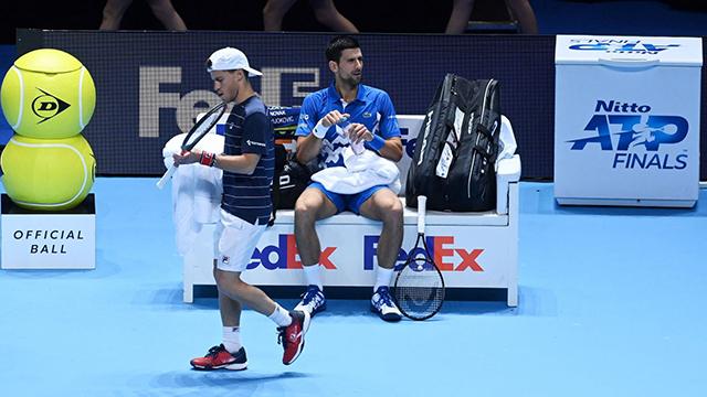 Schwartzman no pudo contra la potencia de Novak Djokovic.