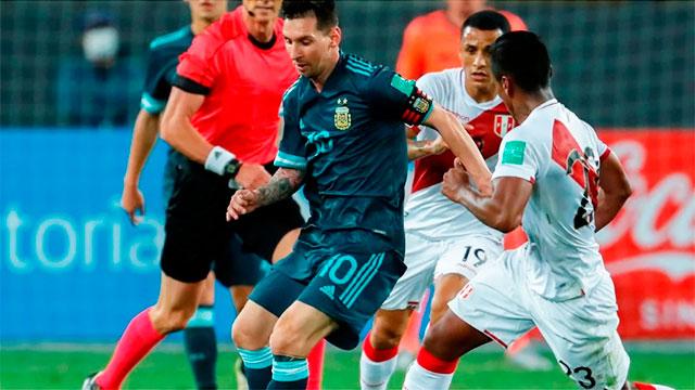 Messi intentará romper una racha ante Perú.