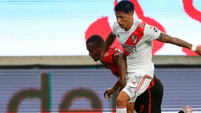 En Brasil, River logró un empate agónico ante Athletico Paranaense.