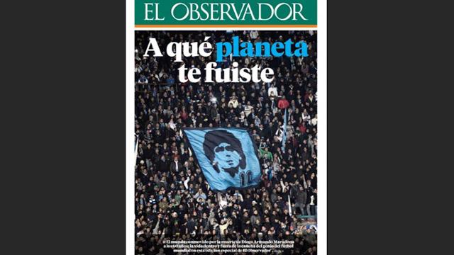 """Así despidieron los diarios del mundo al """"D10S"""" del fútbol."""