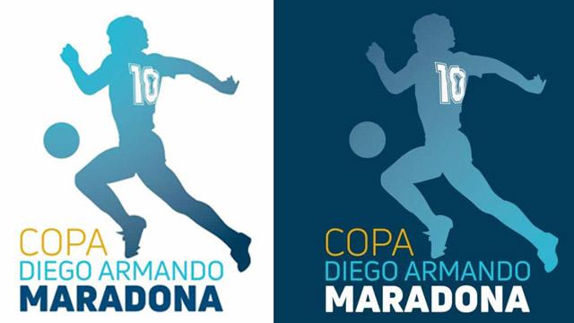 Se conoció el flamante logo de la Copa Diego Maradona