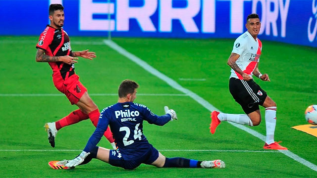 Copa Libertadores: River le ganó 1-0 a Athletico Paranaense y se clasificó a cuartos de final