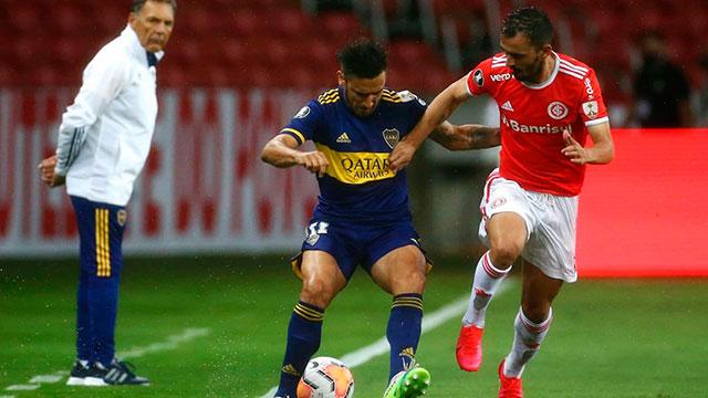 Bajo un diluvio, Inter-Boca juegan en Porto Alegre por la ida de octavos de final