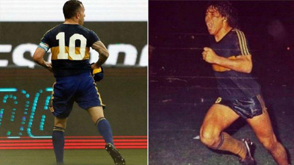 """Tevez, sobre la camiseta que usó de Maradona: """"Sabía que iba a hacer un gol""""."""