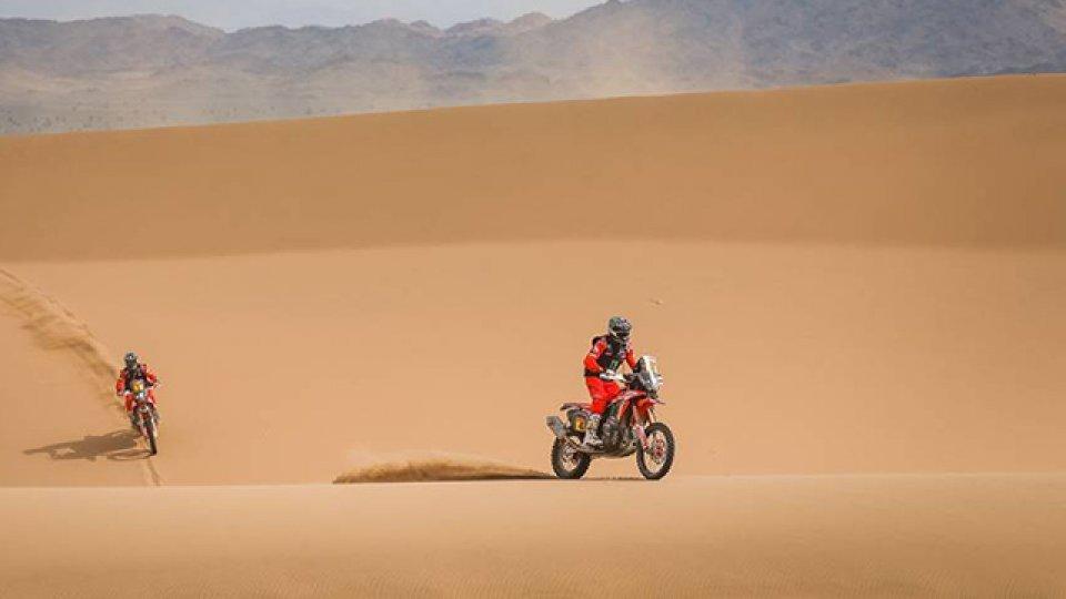 Benavides quedó adelante en la clasificación general de motos.