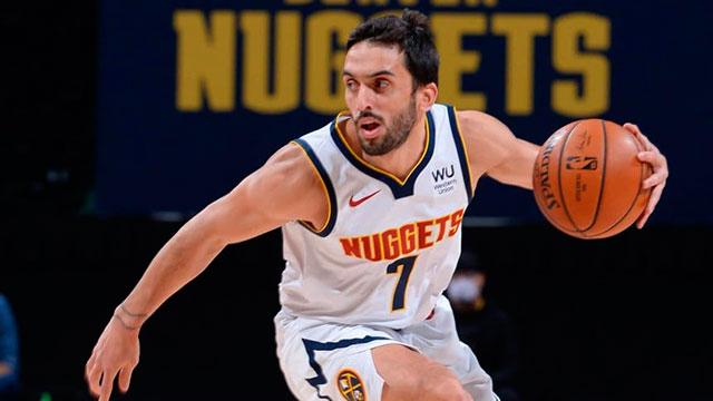 NBA: Un triple y una gran asistencia de Campazzo en el triunfo de Denver