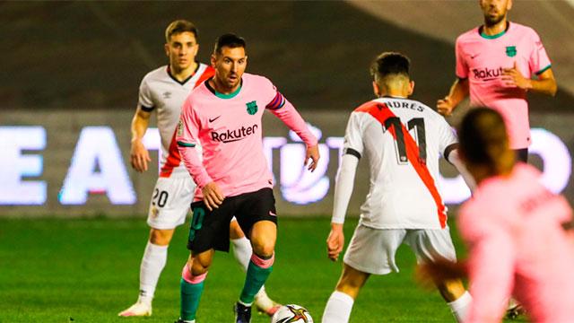 Messi volvió con un gol y Barcelona eliminó a Rayo Vallecano por la Copa del Rey
