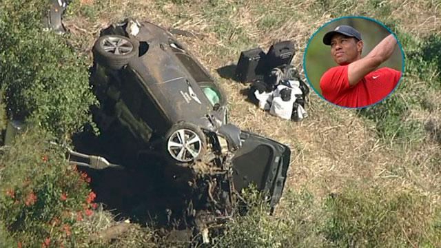 Tiger Woods sufrió un grave accidente automovilístico.