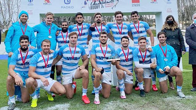 Los Pumas 7s, otra vez campeones del Seven de Madrid tras vencer a Kenia.