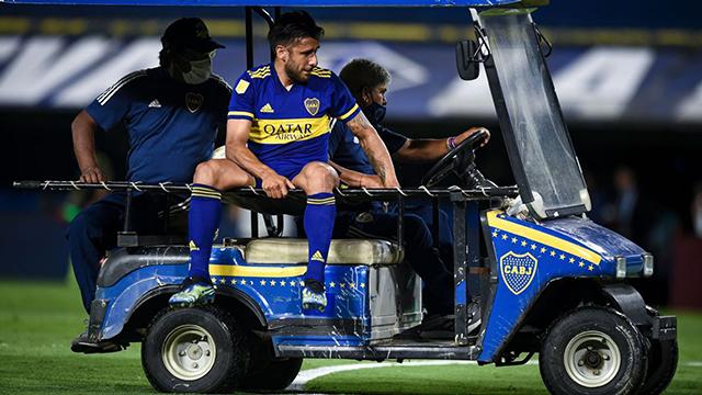 Parte médico en Boca: Salvio se rompió los ligamentos cruzados y estará seis meses sin jugar