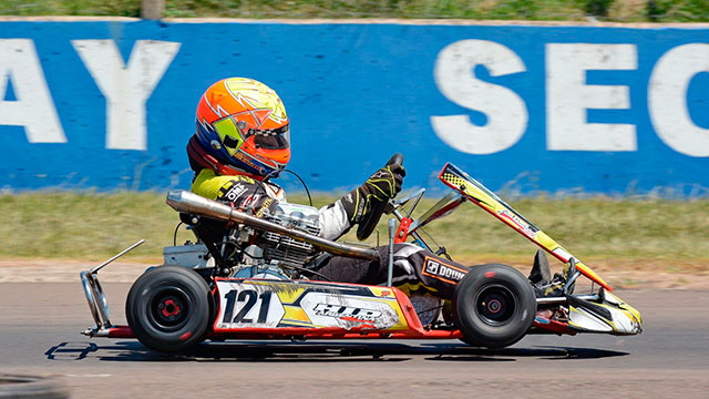 El Gurí Martínez, uno de los vencedores en el regreso del karting entrerriano