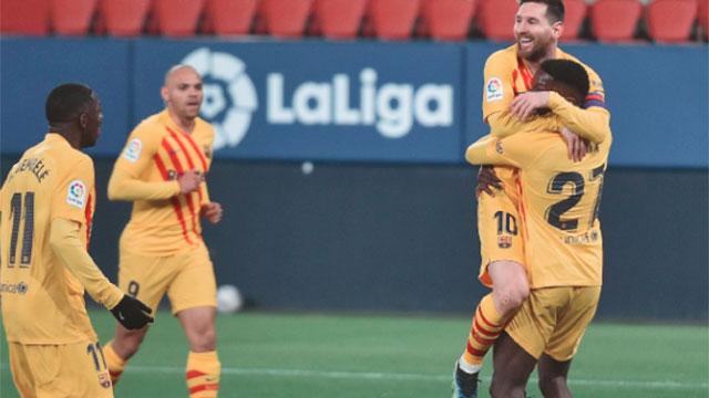 Las dos asistencias de Messi en los goles del Barcelona.