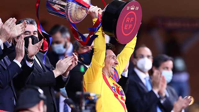 Con dos goles de Messi, Barcelona se consagró campeón de la Copa del Rey