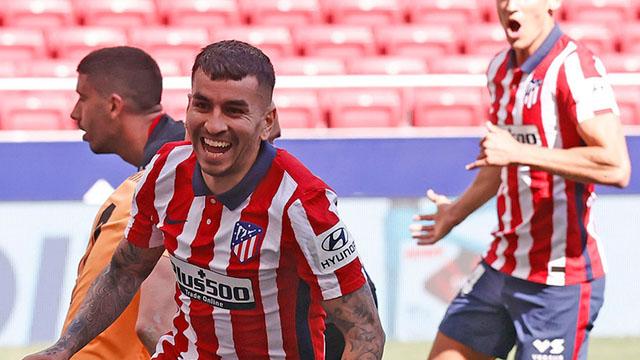 Con un doblete de Ángel Correa, Atlético de Madrid goleó al Eibar y se afianza en la cima