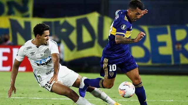Boca y Santos se vuelven a enfrentar por la Copa Libertadores.