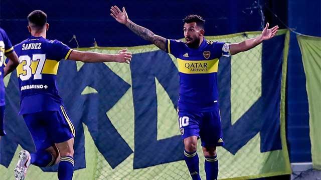 Boca derrotó a Santos en la Bombonera y se afirma en la Copa Libertadores.