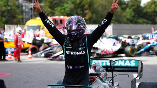 Lewis Hamilton se llevó la victoria en el Gran Premio de España.