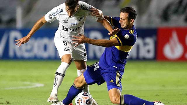 Boca cayó ante Santos en Brasil por la Libertadores.