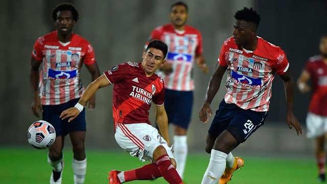 River igualó en el final ante Junior de Barranquilla.