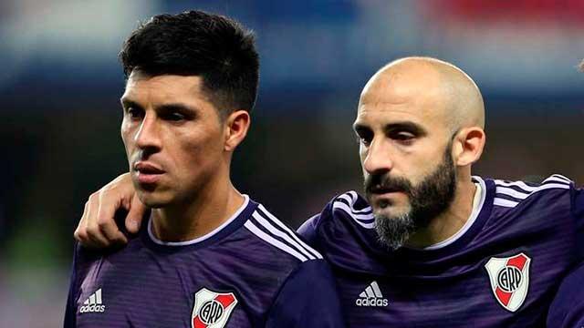 Gallardo probó con Enzo Pérez al arco y con el regreso de Javier Pinola.